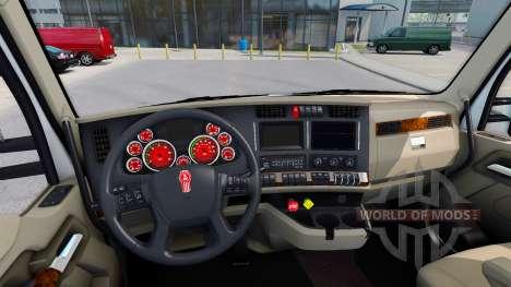 El color rojo de los dispositivos en un Kenworth para American Truck Simulator