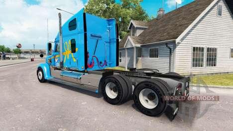 La piel de a&R en el camión Freightliner Coronad para American Truck Simulator