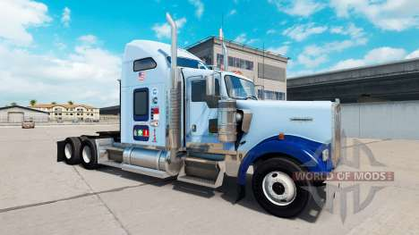 La piel de la UNC Tarheel v1.01 en el camión Ken para American Truck Simulator