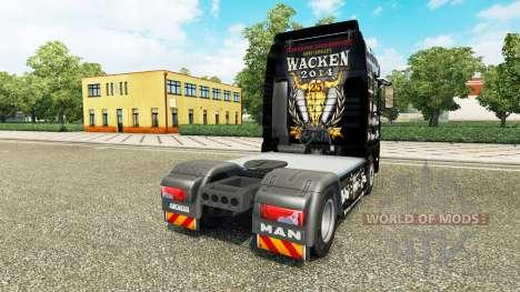 La piel de 25 Jahre Wacken para el tractor HOMBR para Euro Truck Simulator 2