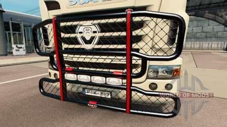El V8 de parachoques en el tractor Scania para Euro Truck Simulator 2