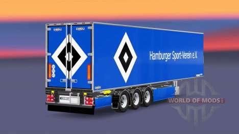 Semirremolque Chereau Hamburger SV para Euro Truck Simulator 2