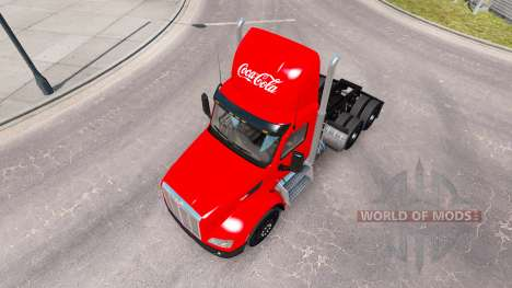 La piel de Coca-Cola de camiones Peterbilt para American Truck Simulator