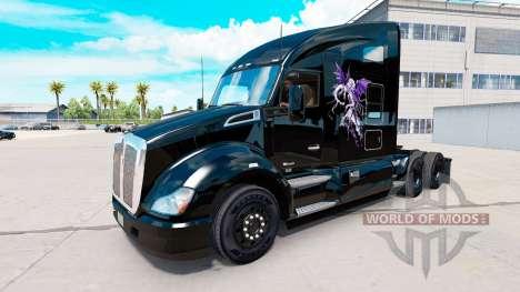 La piel del Bien contra el Mal en un Kenworth tr para American Truck Simulator