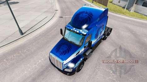 La piel Azul León de Transporte en el tractor Pe para American Truck Simulator