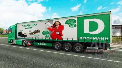 Deichmann skin for trailers para Euro Truck Simulator 2