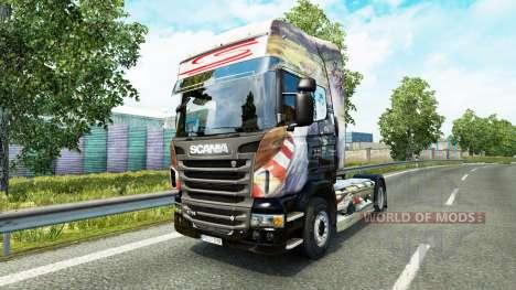 Airton Senna piel para Scania camión para Euro Truck Simulator 2