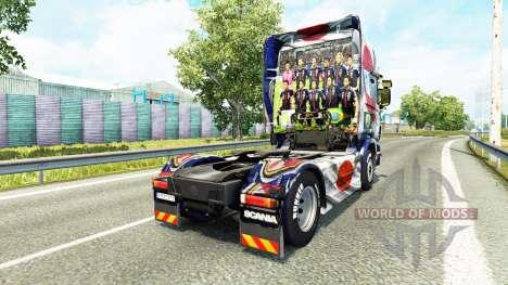 La piel Japao Copa 2014 para Scania camión para Euro Truck Simulator 2
