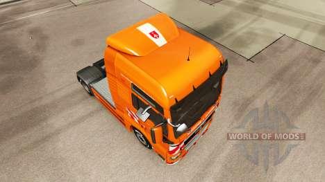 La J. Eckhardt Spedition piel para HOMBRE camión para Euro Truck Simulator 2