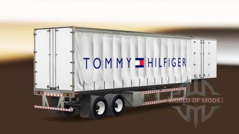 La piel de Tommy Hilfiger en una cortina semi-re para American Truck Simulator