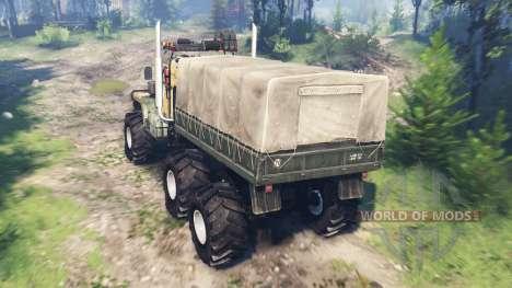 KrAZ-255 [pieza de hierro] v4.0 para Spin Tires