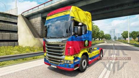 La Copa Colombia 2014 de la piel para Scania cam para Euro Truck Simulator 2