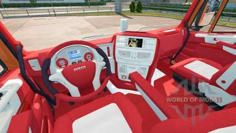 El Bayern de interior para Iveco Hi-Way para Euro Truck Simulator 2