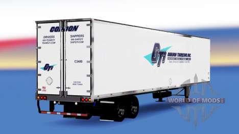 Todo el metal-semirremolque Gordon para American Truck Simulator