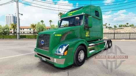 Скин ABF Freight System, Inc. на Volvo VNL 670 para American Truck Simulator