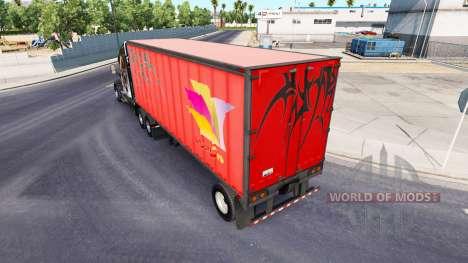 Semi-remolques real con los logotipos de la comp para American Truck Simulator