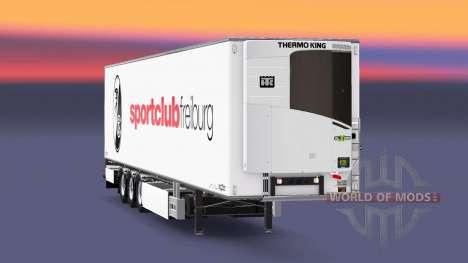 Semi-remolque Chereau, SC Freiburg para Euro Truck Simulator 2