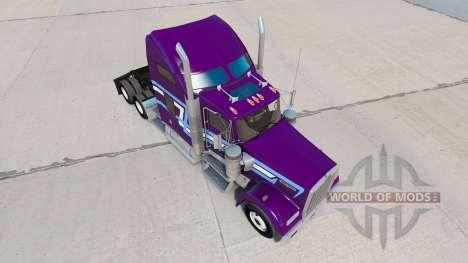 La piel Icono de Estilo en el camión Kenworth W9 para American Truck Simulator