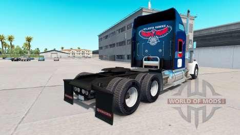 La piel Halcones de Atlanta en el camión Kenwort para American Truck Simulator