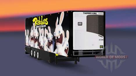 Semitrailer el refrigerador Schmitz Rabbids para Euro Truck Simulator 2