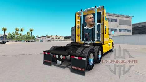 La piel Port Vale en amarillo tractor Kenworth para American Truck Simulator