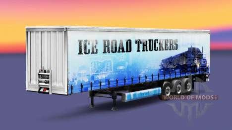 La piel Camioneros del Hielo en el remolque para Euro Truck Simulator 2