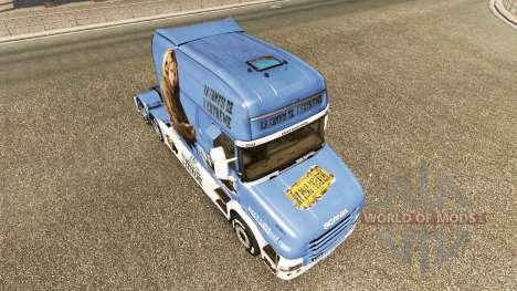 Piel Lisa Convoy de camiones Scania T para Euro Truck Simulator 2