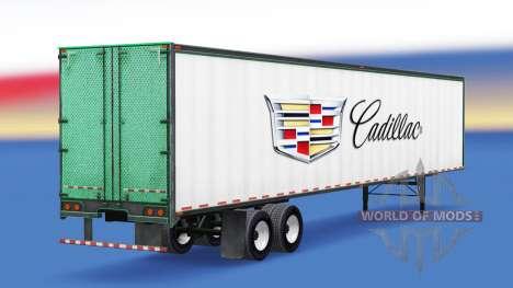 La piel Cadillac metal remolque para American Truck Simulator