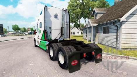 Skin DFS Danfreiht on tractor Peterbilt 387 para American Truck Simulator