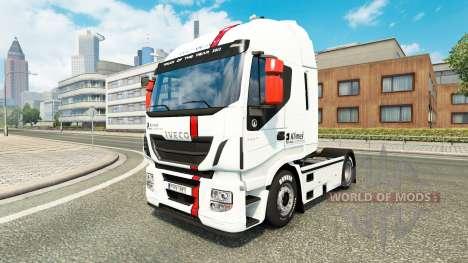 La piel Klimes para Iveco camión para Euro Truck Simulator 2