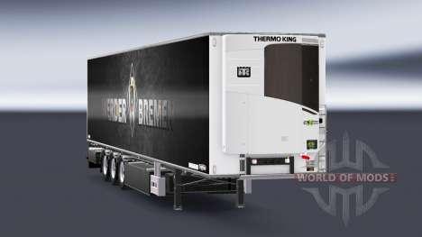 Semirremolque Chereau Werder Bremen para Euro Truck Simulator 2