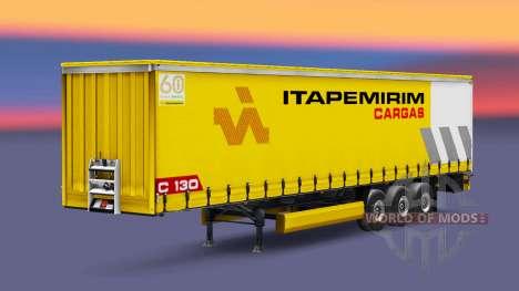Itapemirim Cargas de la piel para el remolque para Euro Truck Simulator 2