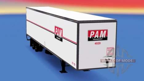 Todo el metal-semirremolque PAM para American Truck Simulator