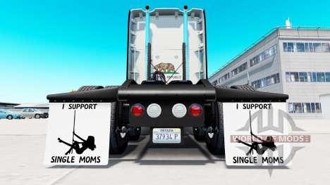 Guardabarros yo Apoyo a Madres Solteras v1.5 para American Truck Simulator