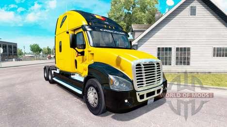 Скин Estes Express на Freightliner Cascadia para American Truck Simulator