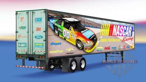 La piel en NASCAR todo-metal remolque para American Truck Simulator