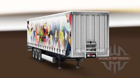 La piel de Dragon Ball en el remolque para Euro Truck Simulator 2