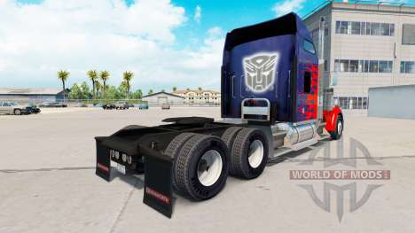 La piel de Optimus Prime camión Kenworth W900 para American Truck Simulator