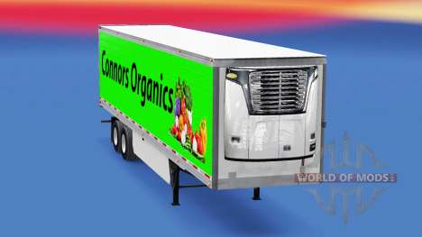 La piel Conors Orgánicos en el remolque para American Truck Simulator
