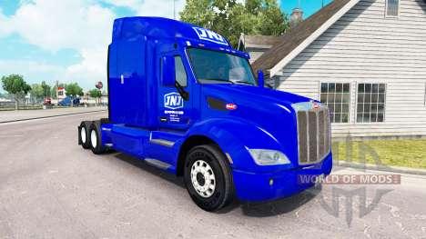 La piel JNJ Express Inc. el tractor Peterbilt para American Truck Simulator