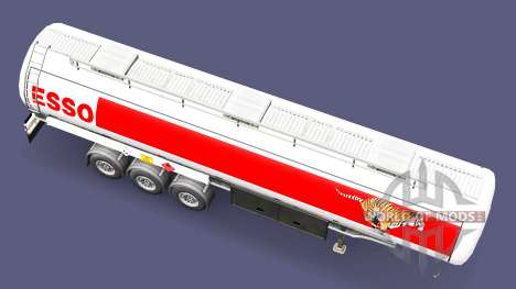 ESSO combustible remolque para Euro Truck Simulator 2