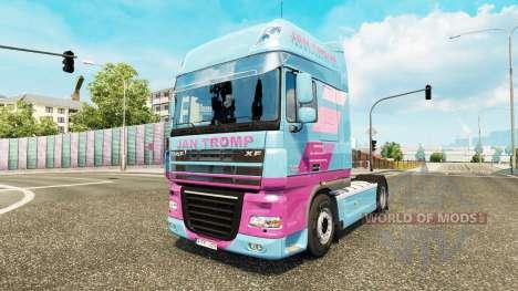 Jan Tromp piel para tractora DAF XF 105.510 para Euro Truck Simulator 2