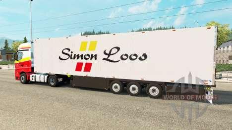 Semitrailer el refrigerador Schmitz Simon Loos para Euro Truck Simulator 2