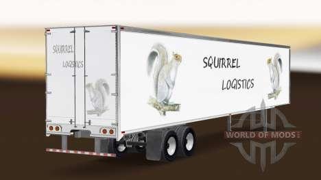 La Ardilla de la Logística de la piel para el re para American Truck Simulator