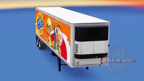 Fanta de la piel para la semi-refrigerados para American Truck Simulator