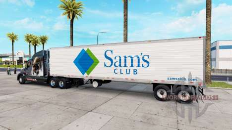 Real logotipos de la compañía para remolques v1. para American Truck Simulator