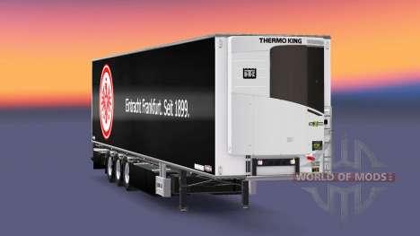 Semi-Remolque Chereau, El Eintracht De Frankfurt para Euro Truck Simulator 2