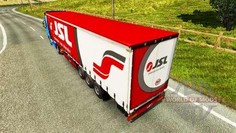 La piel de Julio Simoes Logística para la semi para Euro Truck Simulator 2