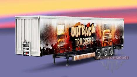 Outback los Camioneros de la piel en el remolque para Euro Truck Simulator 2