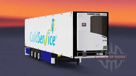 Semitrailer el refrigerador Schmitz Coldservice para Euro Truck Simulator 2